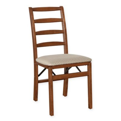 Stakmore Shaker Ladderback Wood Folding Chairs in Cherry (Set of 2)
