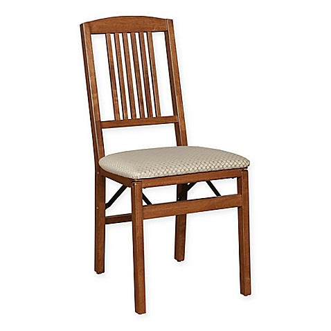 stakmore simple mission wood folding chairs set of 2