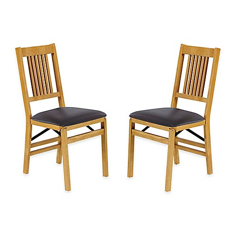 buy stakmore true mission wood folding chairs in oak set