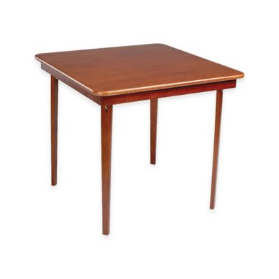 Stakmore 32-Inch Straight Edge Folding Card Table in Cherry