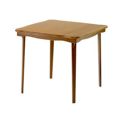 Stakmore 32-Inch Scalloped Edge Folding Card Table in Fruitwood