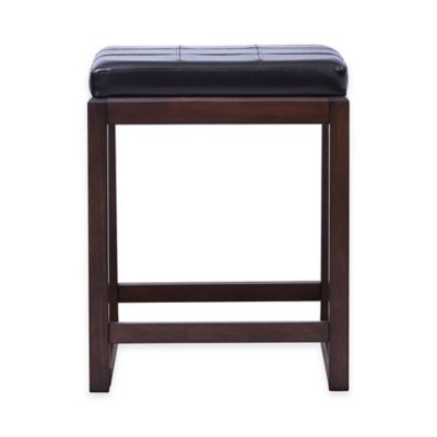 Beacon 24-Inch Saddle Counter Stool in Dark Brown