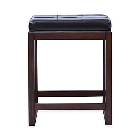 Buy Beacon 24 Inch Saddle Counter Stool In Dark Brown From