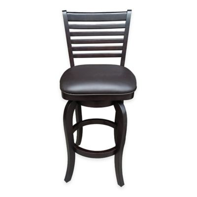 Lanister 24-Inch Swivel Counter Stool in Dark Chocolate