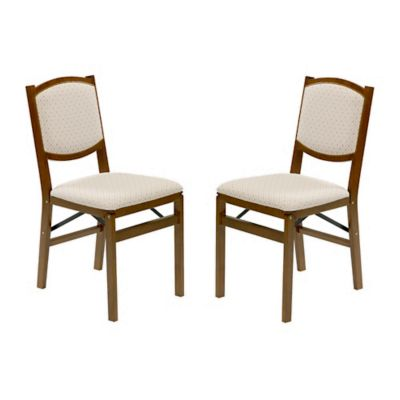 Stakmore Contemporary Wood Folding Chairs in Fruitwood (Set of 2)