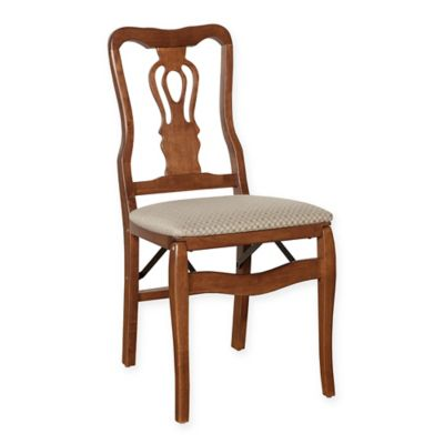 Stakmore Chippendale Wood Folding Chairs in Cherry (Set of 2)