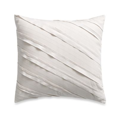 Barbara Barry® Quill Preened Square Throw Pillow in Marble