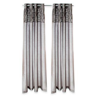 Glenna Jean Swizzle 84-Inch Window Panels in Grey (Set of 2)