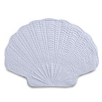 Shell-Shaped Quilted Placemat in White