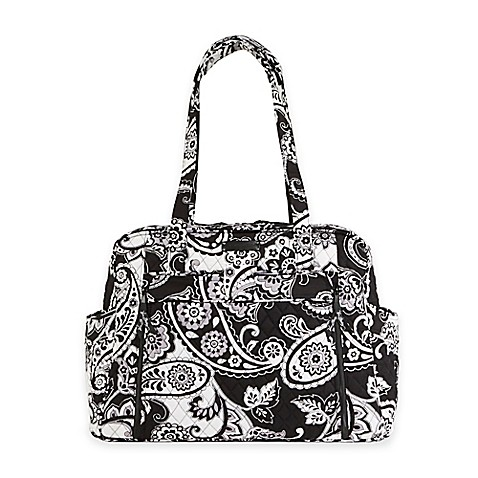 vera bradley stroll around midnight paisley baby bag in black white. Black Bedroom Furniture Sets. Home Design Ideas