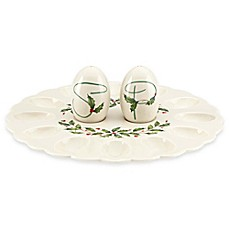 Lenox® Holiday™ Egg Platter with Salt and Pepper Shakers