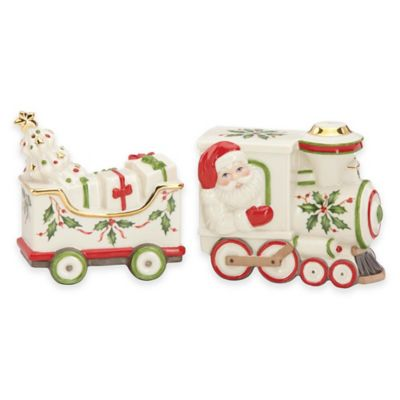Lenox® Holiday™ Santa and Train Salt and Pepper Shakers