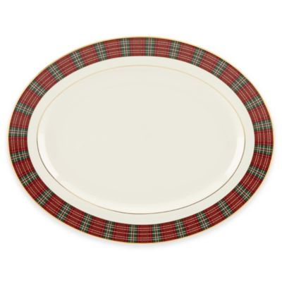 Lenox® Winter Greetings® Plaid Oval Platter