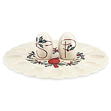 Lenox® Winter Greetings® Egg Platter with Salt and Pepper Shakers
