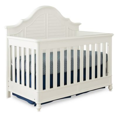 Bassettbaby PREMIER® Nantucket 4-in-1 Convertible Crib in Cotton White