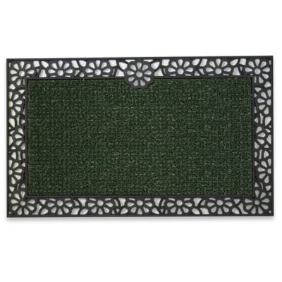 Clean Machine® Premium Rubber Backed/Wrought Iron Daisy 18-Inch x 30-Inch Scraper Door Mat