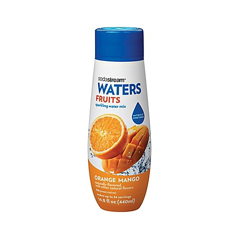 Sodastream waters fruits orange mango flavored sparkling for Sparkling water mixed drinks