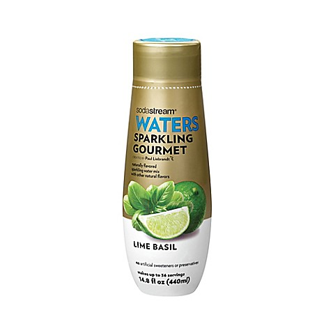 Sodastream waters lime basil gourmet sparkling drink mix for Sparkling water mixed drinks