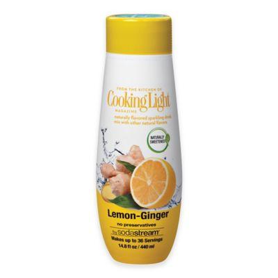 sodastream® Cooking Light® Lemon Ginger Flavor Sparkling Drink Mix