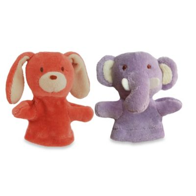 Bunny and Elephant Finger Puppets (Set of 2)