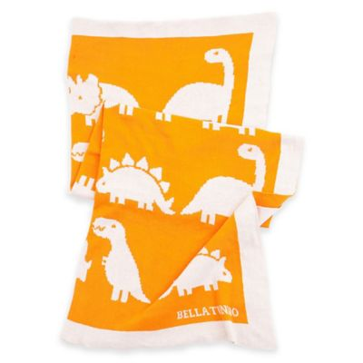 Bella Tunno Dinosaur Roar Favorite Blanket in Orange