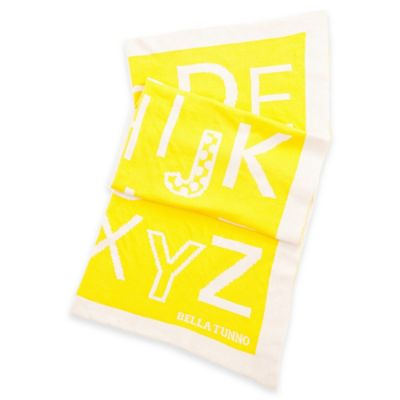 Bella Tunno Alphabet Soup Favorite Blanket in Yellow
