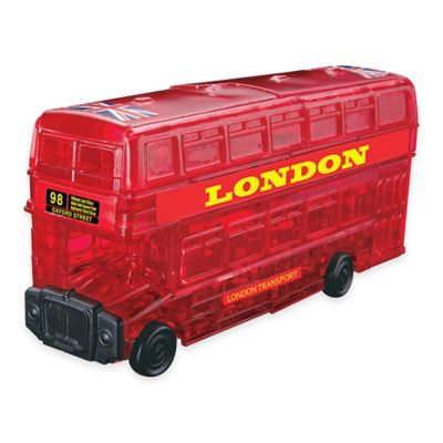 53-Piece London Bus 3D Crystal Puzzle in Red