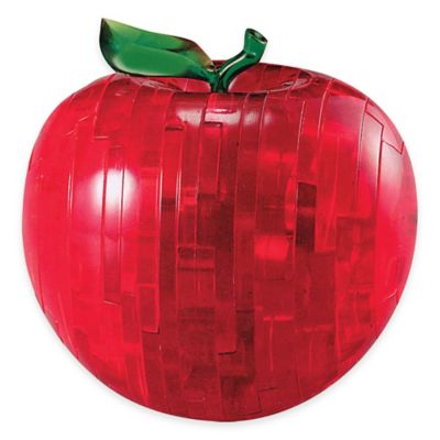 44-Piece Apple 3D Crystal Puzzle in Red