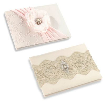 Lillian Rose™ Lace Guest Book in Gold
