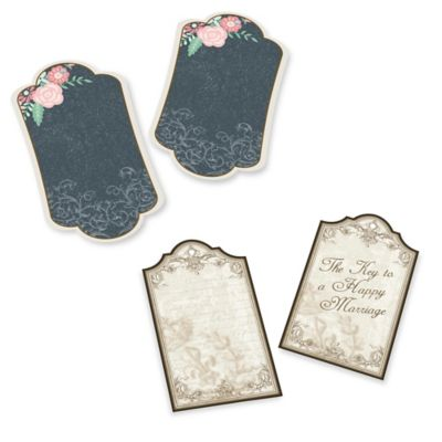 "Lillian Rose™ 24-Pack ""Happy Marriage"" Wishes Key Tags in Gold"