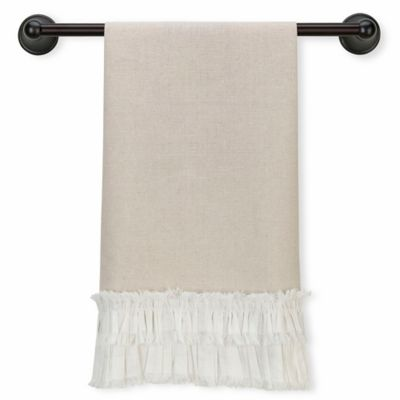Lillian Rose™ Ruffled Kitchen Towel in Tan