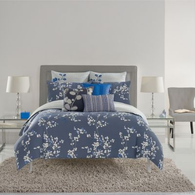 Kas® Gabriel Full/Queen Duvet Cover in Navy