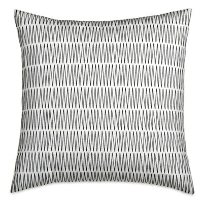 DKNY City Pleat Square Throw Pillow in Ivory
