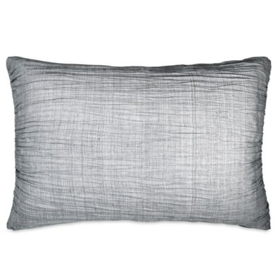 DKNY City Pleat Standard Pillow Sham in Grey