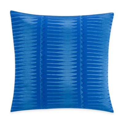 Kas® Gabriel Square Throw Pillow in Electric Blue
