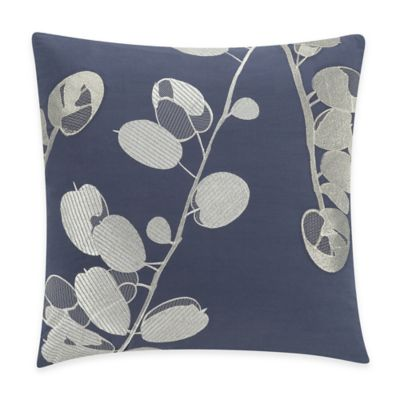 Kas® Gabriel Square Throw Pillow in Navy