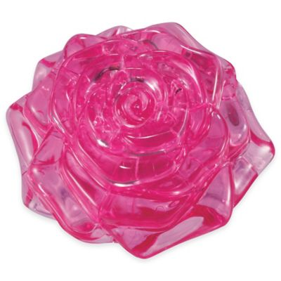 44-Piece Rose 3D Crystal Puzzle in Pink