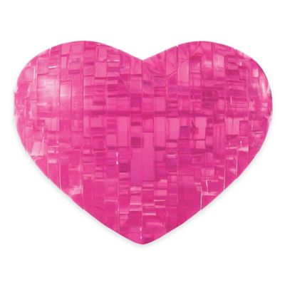 BePuzzled® 45-Piece Heart 3D Crystal Puzzle in Pink