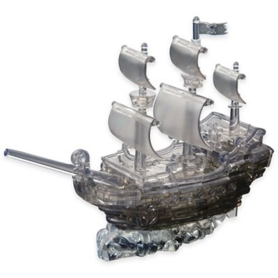 Activity > 101-Piece 3D Pirate Ship Crystal Puzzle in Black
