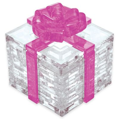 38-Piece 3D Pink Bow Gift Box Crystal Puzzle