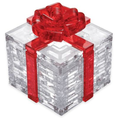 38-Piece 3D Red Bow Gift Box Crystal Puzzle