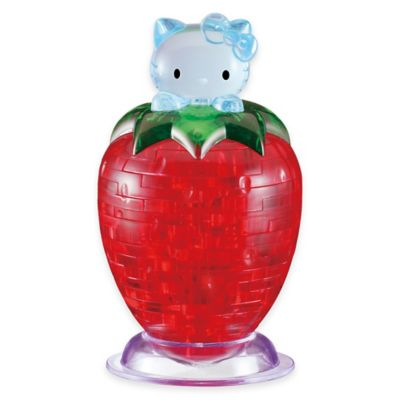 BePuzzled® 45-Piece Hello Kitty® on Strawberry 3D Crystal Puzzle