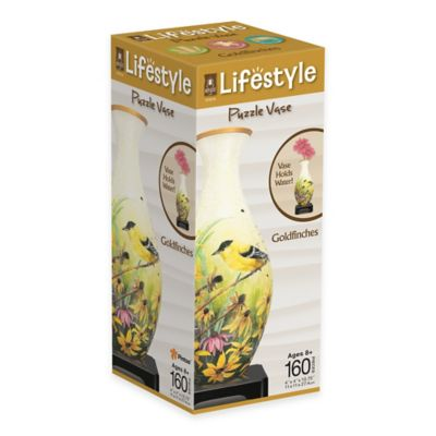 Bepuzzled® Lifestyle 160-Piece Goldfinches 3D Puzzle Vase