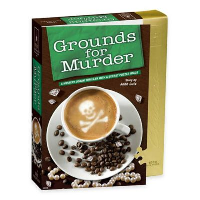 BePuzzled® 1000-Piece Grounds For Murder Classic Mystery Jigsaw Puzzle
