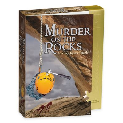 BePuzzled® 1000-Piece Murder on the Rocks Classic Murder Mystery Puzzle