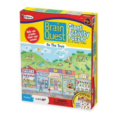 Brain Quest 48-Piece On The Town Giant Activity Puzzle