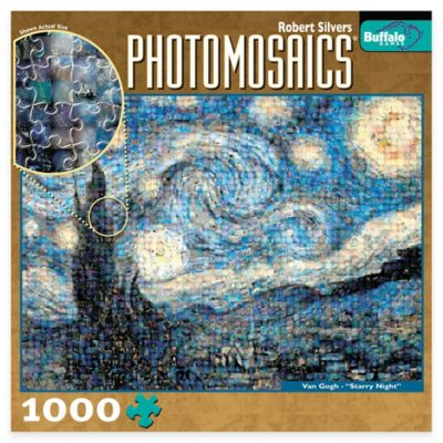 Buffalo Games 1000-Piece Starry Night Photomosaics Jigsaw Puzzle