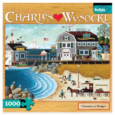 Buffalo Games Charles Wysocki 1000-Piece Clammers at Hodge's Puzzle