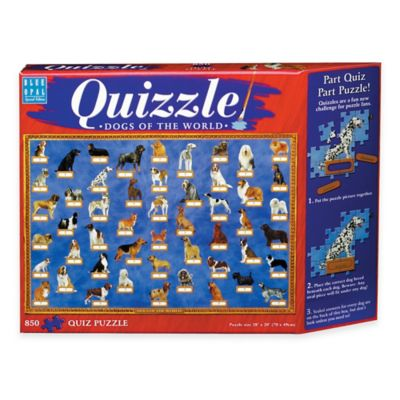 Blue Opal 850-Piece Quizzle Dogs of the World Jigsaw Puzzle