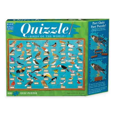 Blue Opal 850-Piece Quizzle Birds of the World Jigsaw Puzzle